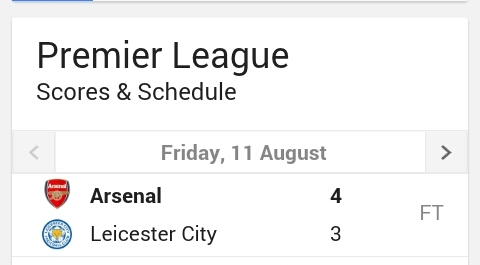 Epl Table Week 1 Results Football Review Preview Dynaxty